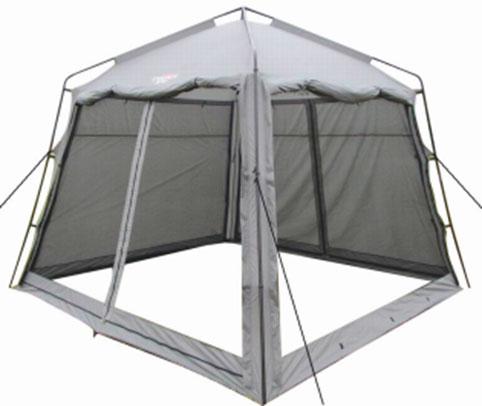 Тент Campack Tent G-3501W с ветро-влагозащитными полотнами37651Модель G-3501W представляет собой компактный аналог самой популярной модели последних трех лет G-3601W. Четырехгранный тент с внешним металлическим каркасом. Идеально подойдет для размещения столовой или кухни. Размер тента 3 на 3 метра, высота - 2,5 метра в коньке, позволяет взрослому человеку находиться внутри в полный рост. Тент оснащен по периметру москитной сеткой, для надежной защиты от надоедливых насекомых. Дополнительные полотна позволяют защитить от дождя и ветра в непогоду. В жаркую погоду G-3501W отлично вентилируется. Тент имеет два входа. Для установки или разборки вам понадобится минимум времени. Конструкция каркаса не предусматривает изгибаемых элементов, которые со временем имеют свойство разрушаться. Кроме того каркас выполнен из усиленных труб, с толщиной стенки 0,8 мм. А это значит, что ваше приобретение будет радовать вас долгое время. Проклеенные швы гарантируют герметичность и надежность в любой ситуации. Характеристики: Размер тента...