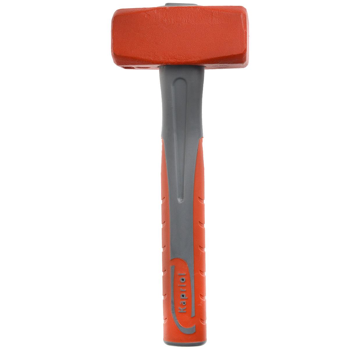 Кувалда Kapriol, длина 28 см, 1500 г. 1016310163Кувалда Kapriol предназначена для нанесения исключительно сильных ударов при обработке металла, на демонтаже и монтаже конструкций. Особенности кувалды: Водоотталкивающие покрытие для работы в любых погодных условиях; Материал головки кувалды - легированная сталь с присадками никеля, хрома и молибдена, что обеспечивает высокую прочность и вязкость; Термическая обработка головки повышает ударопрочность и увеличивает срок службы; Поверхностный слой головки закален, что обеспечивает высокую твердость молотка; Головка соединена с рукояткой с помощью эпоксидного клея; Корпус рукоятки изготовлен из стальной трубы; Эргономичный прорезиненный чехол рукоятки выполняет функцию вибропоглощения; Рукоятка имеет форму соответствующую очертаниям руки, что повышает точность удара и снижает усталость при работе.