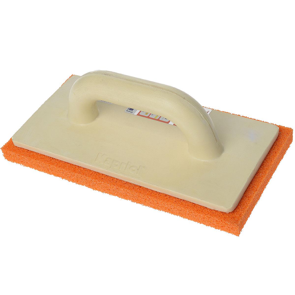 Терка штукатурная с мягкой губкой Kapriol, 14 х 28 см23071Терка штукатурная с мягкой губкой Kapriol используется для финишного выравнивания и последующего затирания раствора на рабочую поверхность. Особенности: Полотно - мягкая губка; Цвет губки - оранжевый; Эргономичная ручка сделана из полиуретана; Толщина губки: 25 мм.