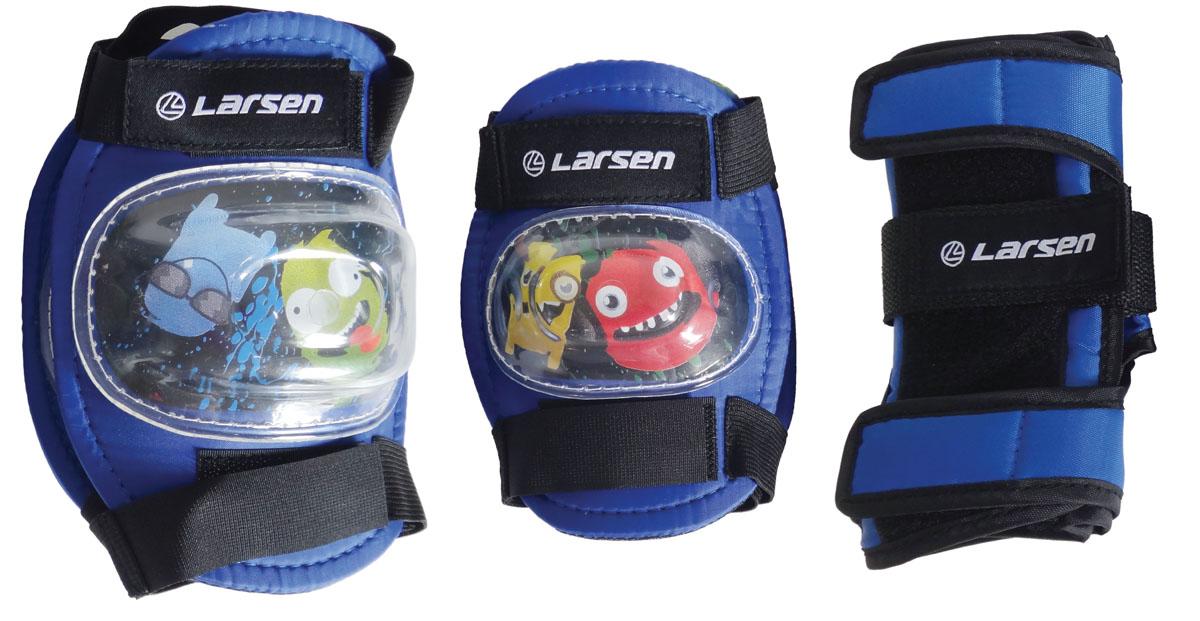 Защита роликовая Larsen Monsters, цвет: синий. Размер S286880
