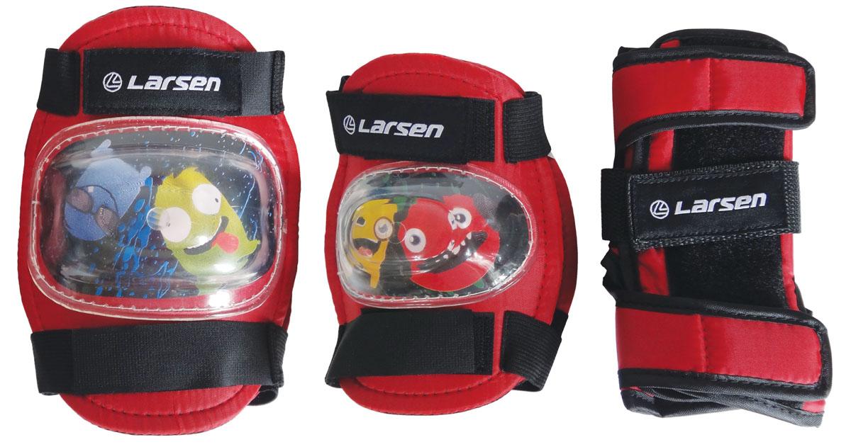 """Larsen Защита роликовая Larsen """"Monsters"""", цвет: красный. Размер M"""