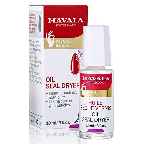 Mavala Сушка-фиксатор лака с маслом Oil Seal Dryer, 10 мл14-616Сушка-фиксатор лака с маслом Mavala Oil Seal Dryer обеспечивает моментальное высыхание лака и одновременно ухаживает за кутикулой, делая ее мягкой и эластичной. Придает маникюру неповторимый глянец и насыщенность, а кутикуле аккуратный вид, как будто вы только что посетили профессиональный салон. Содержит уникальные ингредиенты защищающие лак от сколов и трещин, не оставляет липкий слой на поверхности ногтей и создает прочное эластичное покрытие. Хлопковое масло, входящее в состав фиксатора, обладает регенерирующими и смягчающими свойствами. Оно ухаживает за кутикулой, питает и увлажняет ее. Регулярное применение сушки-фиксатора позволит вам сэкономить время на маникюр и обеспечит великолепный уход за кутикулой.