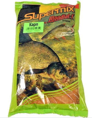 Прикормка Mondial-F Supermix: Карп, 1 кг49615Прикормка Mondial-F Supermix: Карп предназначена для ловли пресноводных рыб. Состоит из натуральных компонентов. Прикормки отличает оригинальная рецептура, обеспечивающая высокую эффективность при очень привлекательной цене, именно поэтому они столь популярны в Европе. Ассортимент представлен тремя сериями, включающими в себя как универсальные, так и специализированные прикормки. Состав: печенья, бисквиты, зерна, минералы, натуральные ароматы.