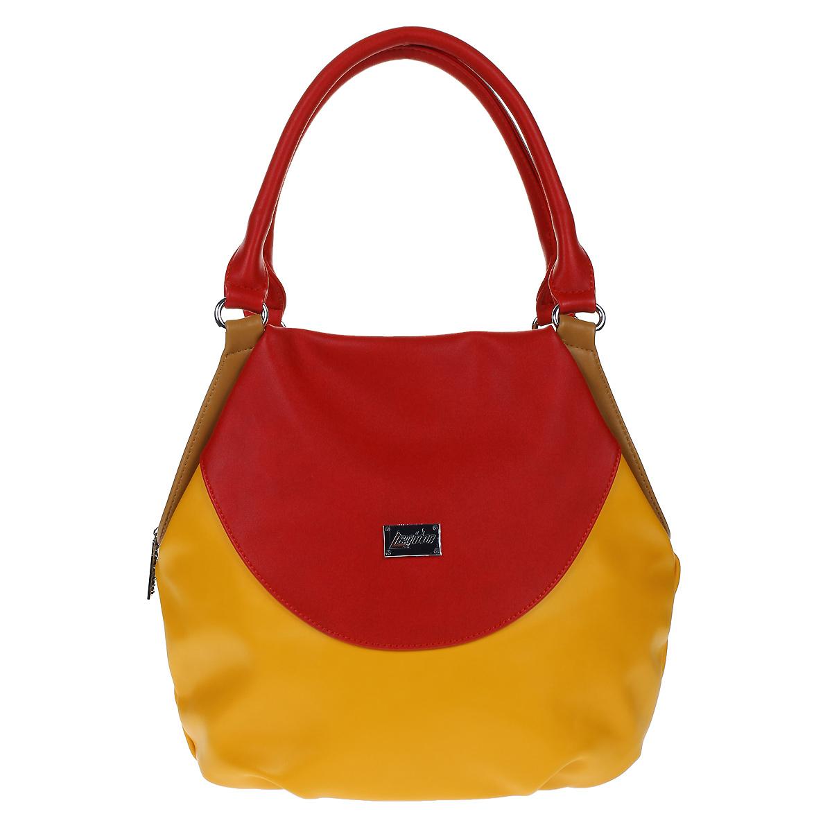 """Сумка женская """"Leighton"""", цвет: оранжевый, красный. 350198-1092 ( 350198-1092/826/1092/806/1092/620 )"""