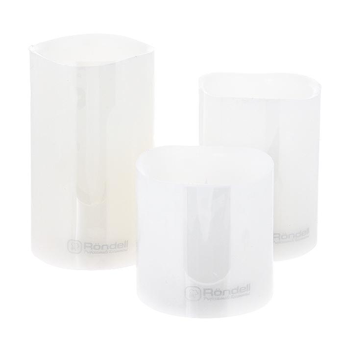 Набор парафиновых свечей Rondell, электрических, 3 шт. RDP-803RDP-803Набор Rondell состоит из трех парафиновых электрических свечей разного размера. Свечи оснащены желтой светодиодной подсветкой. Свет мягкий, не раздражающий глаза. Светодиодная свеча создает полную имитацию обычной свечи благодаря своему мерцающему свету. Она безопасна в использовании, не оставляет никаких пятен от воска и дыма, а также исключает вероятность возникновения пожара. Корпус свечей изготовлен из парафина, а внутри установлена небольшая лампочка, выполненная в виде пламени. Чтобы зажечь свечу, необходимо перевести выключатель на основании из положения OFF в положение ON. Среднее время беспрерывной работы - 72 часа. В комплект входит пульт для дистанционного управления. Благодаря такому набору свечей ваши праздники и будни окрасятся в новые цвета, а ваши дети будут засыпать, не боясь темноты.