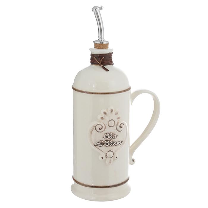 Бутылка для масла Nuova Cer, цвет: белый, 750 мл. NC9046-AVR-ALNC9046-AVR-ALБутылка для масла Nuova Cer выполнена из высококачественной керамики белого цвета. Емкость оснащена удобной ручкой и пробкой с металлическим разбрызгивателем. Бутылка легка в использовании, стоит только перевернуть ее, и вы с легкостью сможете добавить оливковое или подсолнечное масло по своему вкусу. Оригинальная емкость будет отлично смотреться на вашей кухне. Изделие можно мыть в посудомоечной машине. Характеристики: Материал: керамика, пробка, металл. Объем бутылки: 750 мл. Размер бутылки (без учета носика и ручки): 9 см х 9 см х 22 см.