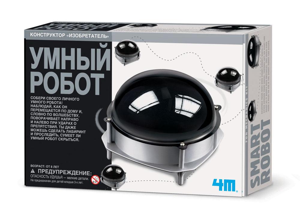 Конструктор 4M Умный робот00-03272Хотите сделать своими руками настоящего робота? Но не простого, а очень умного, чтобы избегал все препятствия на своем пути! Тогда набор умный робот от бренда 4М, безусловно, для вас и ваших детей! Шаг за шагом, следуя инструкции на русском языке,собирайте модель робота. Сборка требует немного терпения, но когда работа завершена, наблюдайте и восхищайтесь как бегает и избегает препятствия этот умный робот! Соберите своего личного умного робота! Наблюдай, как он перемещается по дому и, словно по волшебству поворачивает направо и налево при ударах о препятствия. Вы даже можете сделать лабиринт и проследить, сумеет ли умный робот скрыться. На каждой упаковке, кроме подробного описания набора на русском языке, вы также обнаружите приятный сюрприз - интересные, познавательные факты и научные материалы, так что ваш ребенок с головой погрузится в интереснейший мир физики электротехники, получив в подарок такой набор! Для работы робота требуется 1...