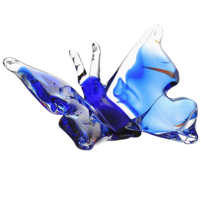 Фигурка декоративная Бабочка, цвет: синий. Ф21-2035Ф21-2035Декоративная фигурка Бабочка изготовлена из высококачественного стекла. Такая фигурка подойдет для декора интерьера дома или офиса. Вы можете поставить фигурку в любом месте, где она будет удачно смотреться и радовать глаз. Кроме того - это отличный вариант подарка для ваших близких и друзей.