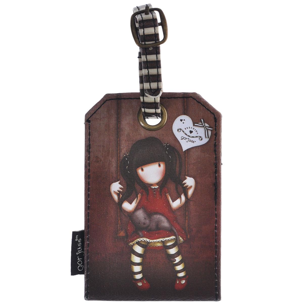 "Santoro Gorjuss Бирка на багаж ""Ruby"", цвет: коричневый. 0090702"