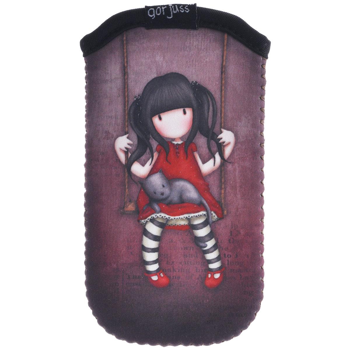 Чехол для телефона Ruby. 00121640012164Чехол для телефона Ruby не позволит потеряться ни одной идее в потоке событий и станет прекрасным подарком для любительницы оригинальных вещиц. Чехол выполнен из полиуретана коричневого цвета и оформлен стилизованным рисунком шотландской художницы Сюзан Вулкотт (Suzanne Woolcott) с изображением основного персонажа своих произведений - девочки Горджус (Gorjuss). Характеристики: Материал: полиуретан. Размер: 12,5 см х 6,5 см х 1 см. Цвет: коричневый.
