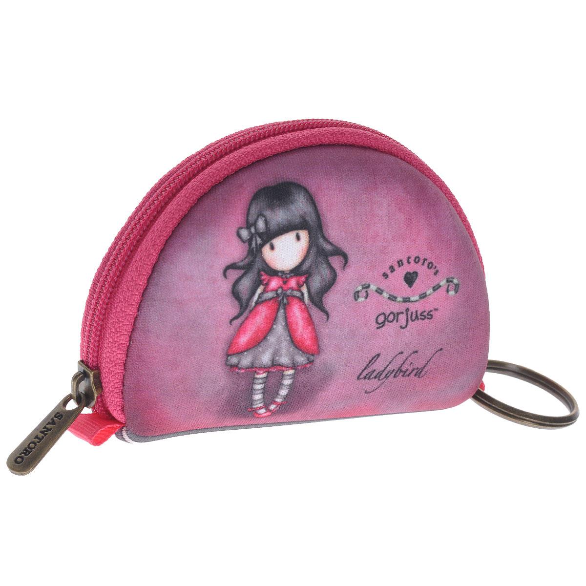 Мини кошелечек Ladybird. 00121800012180Мини кошелек Ladybird не позволит потеряться ни одной идее в потоке событий и станет прекрасным подарком для любительницы оригинальных вещиц. Кошелек выполнен из полиуретана розового цвета и оформлен стилизованным рисунком шотландской художницы Сюзан Вулкотт (Suzanne Woolcott) с изображением основного персонажа своих произведений - девочки Горджус (Gorjuss). Кошелек, застегивающийся на молнию и также имеет кольцо для ключей. Характеристики: Материал: полиуретан, металл. Размер: 9 см х 6 см х 2 см. Цвет: розовый.