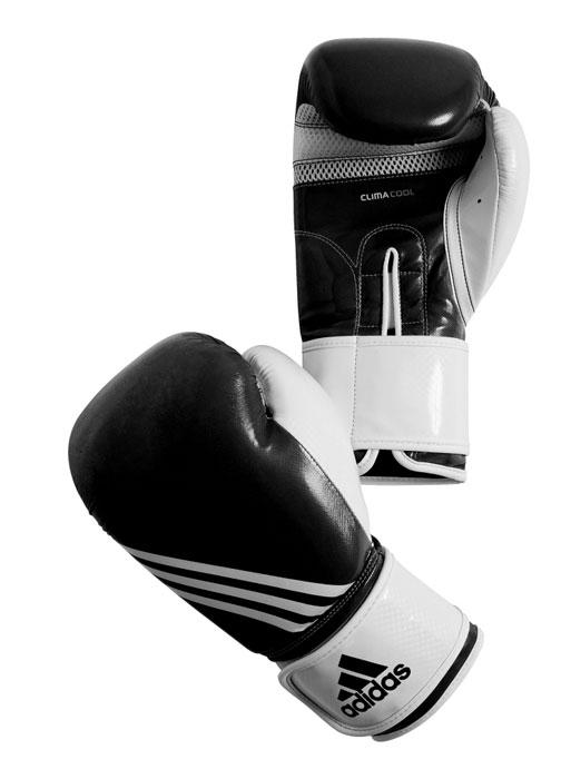 Перчатки боксерские Adidas Fitness, цвет: черно-белый. adiBL05. Вес 8 унций