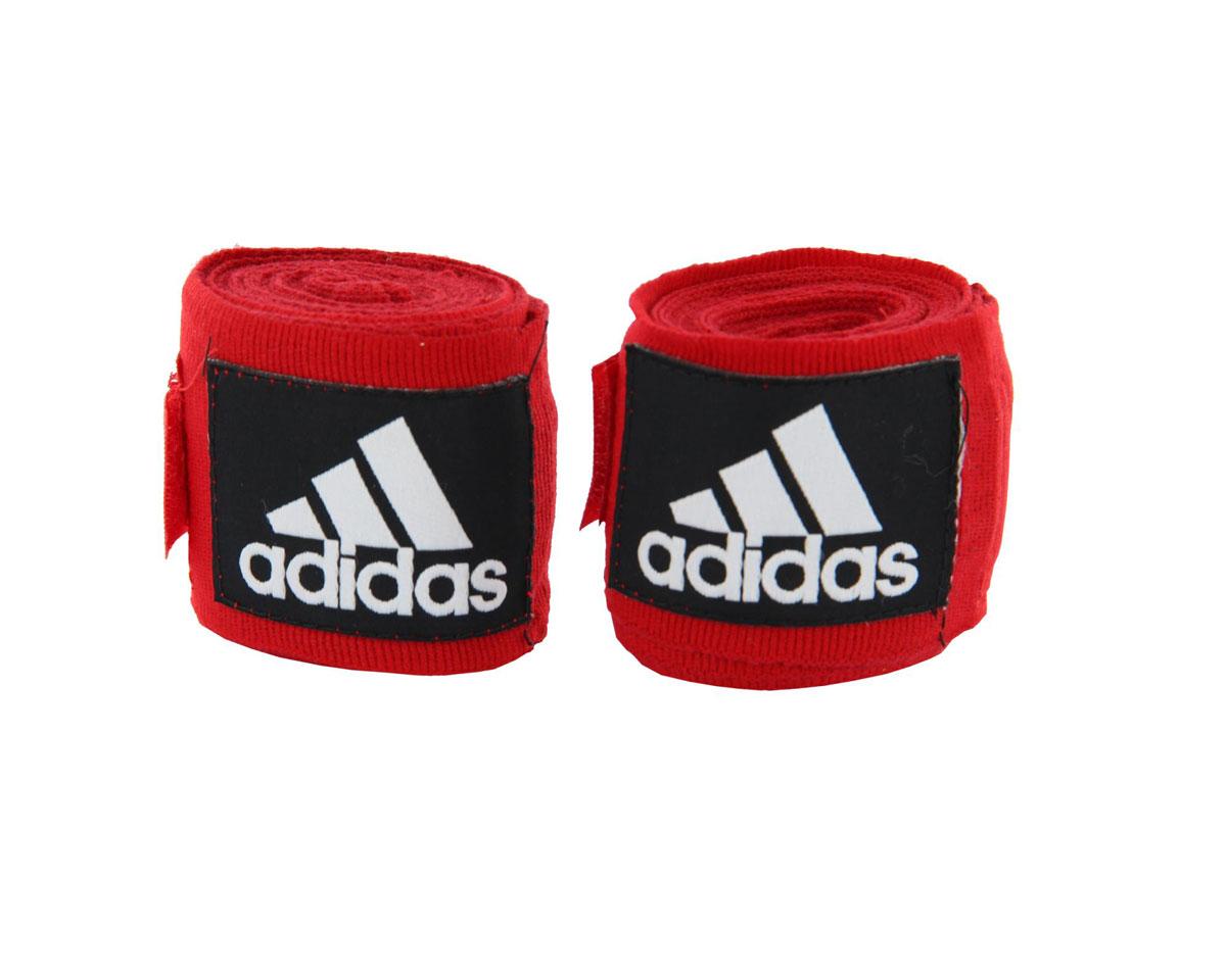 Бинт эластичный Adidas Boxing Crepe Bandag, цвет: красный, 255 см, 2 штadiBP03