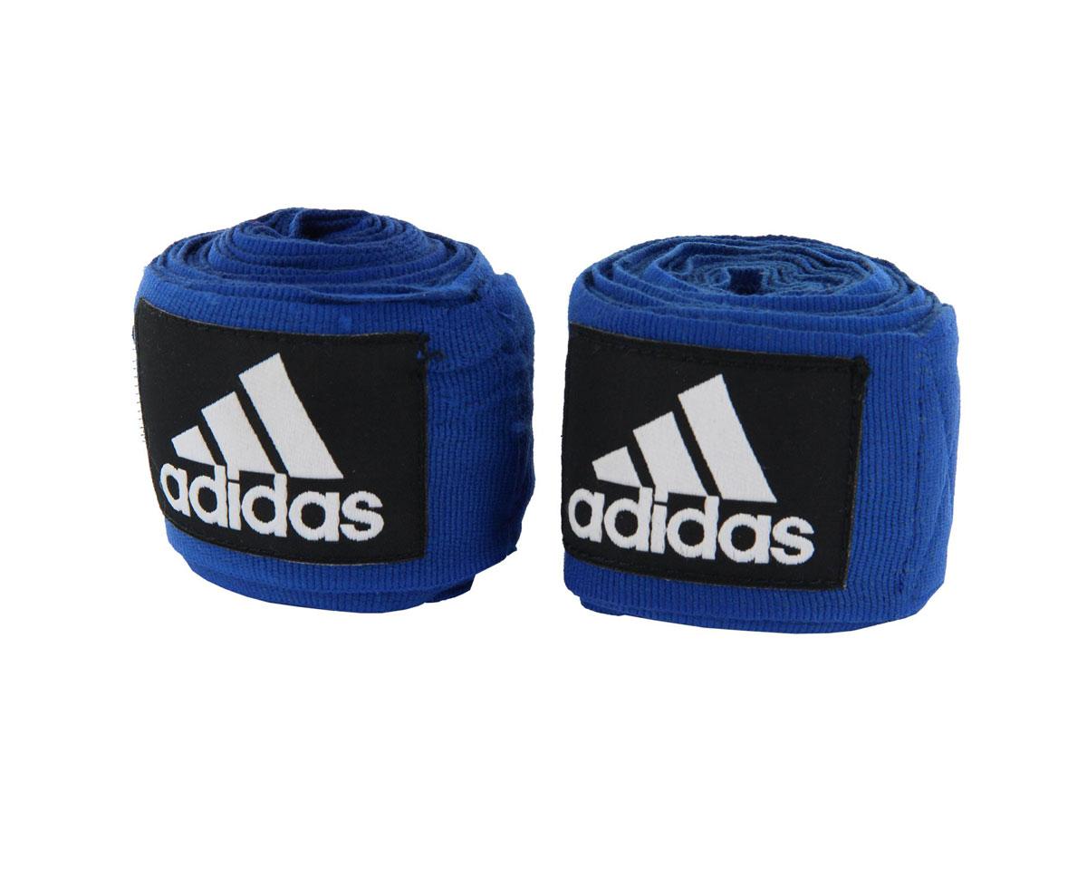 Бинт эластичный Adidas Boxing Crepe Bandag, цвет: синий, 450 см, 2 штadiBP03