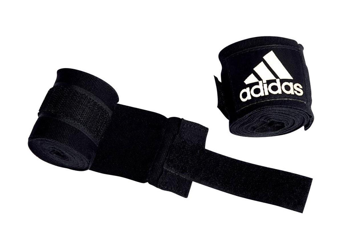 Бинт эластичный Adidas Boxing Crepe Bandag, цвет: черный, 255 см, 2 штadiBP03