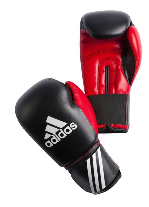 Перчатки боксерские Adidas Response, цвет: черно-красный. adiBT01. Вес 8 унцийadiBT01Тренировочные боксерские перчатки Adidas Response. Сделаны из прочной искусственной кожи (PU3G), удобно сидят на руке. Фиксация на липучке. Внутренний наполнитель из формованной под давлением пены с интегрированной внутренней вставкой из геля, выполненной по технологии I-Protech.