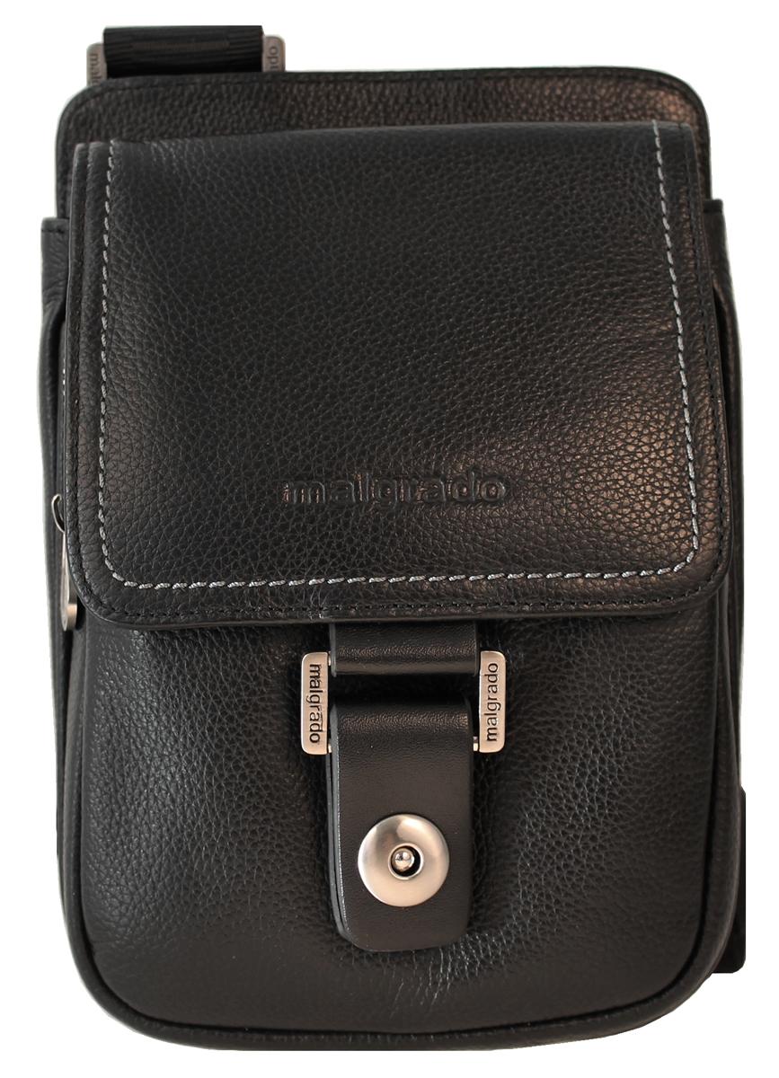 Сумка мужская Malgrado, цвет: черный. BR11-588C1836BR11-588C1836 blackМужская сумка Malgrado выполнена из натуральной кожи черного цвета. Сумка состоит из одного отделения, закрывающегося на магнитную защелку. Внутри отделения - открытый накладной карман, три кармашка для мелочей и телефона и два фиксатора для пишущих принадлежностей. Под клапаном предусмотрен карман на молнии. На задней стенке сумки расположен кармашек на молнии. Сумка оснащена актуальной ручкой-лентой регулируемой длины. Сегодня мужская сумка - необходимый аксессуар для современного мужчины.