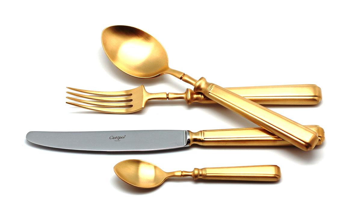 Набор столовых приборов Cutipol Piccadilly Gold, цвет: золотистый матовый, 72 предмета9142-729142-72 PICCADILLY GOLD мат. Набор 72 пр.