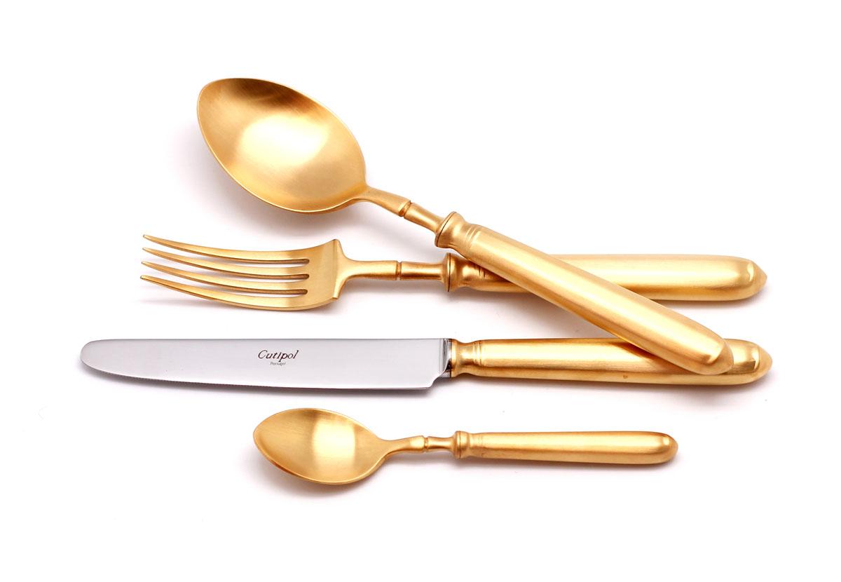 Набор столовых приборов Cutipol Mithos Gold, цвет: золотистый матовый, 72 предмета. 9152-729152-729152-72 MITHOS GOLD мат. Набор 72 пр.