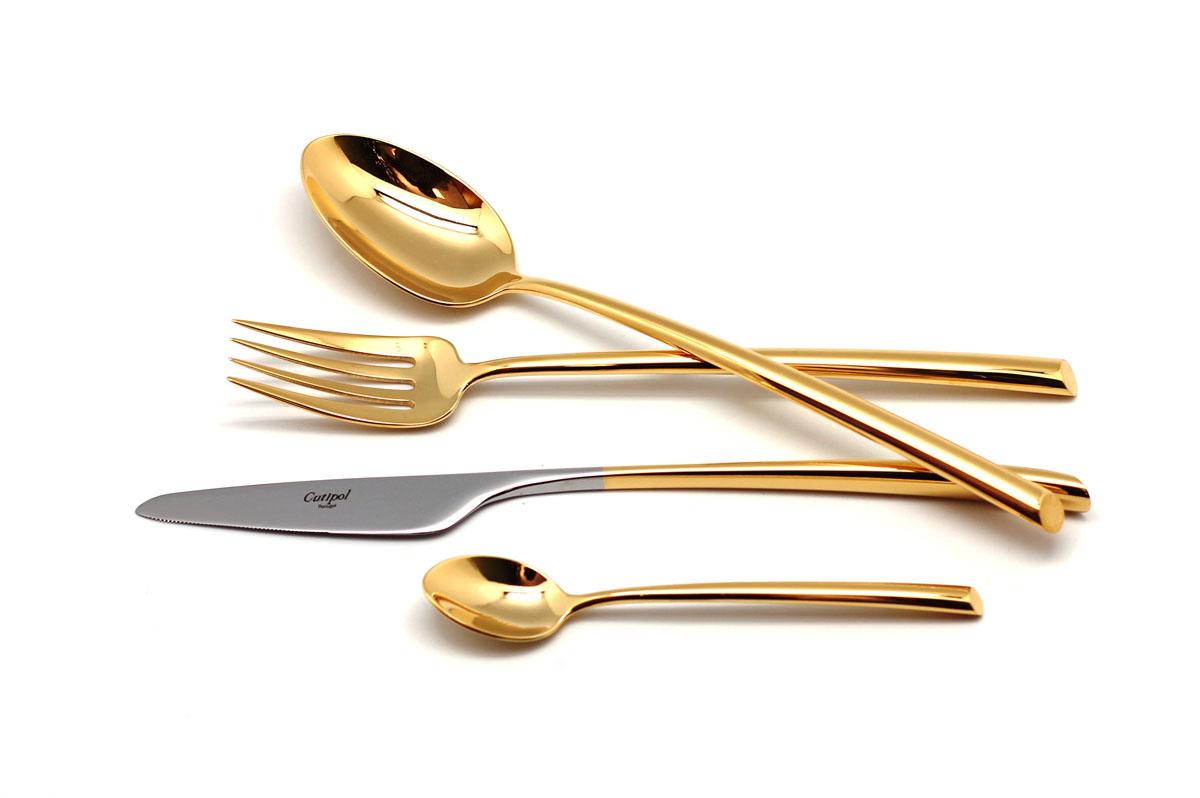 Набор столовых приборов Cutipol Mezzo Gold, 72 предмета9301-729301-72 MEZZO GOLD Набор 72 пр. Характеристики: Материал: сталь. Размер: 660*305*225мм. Артикул: 9301-72.