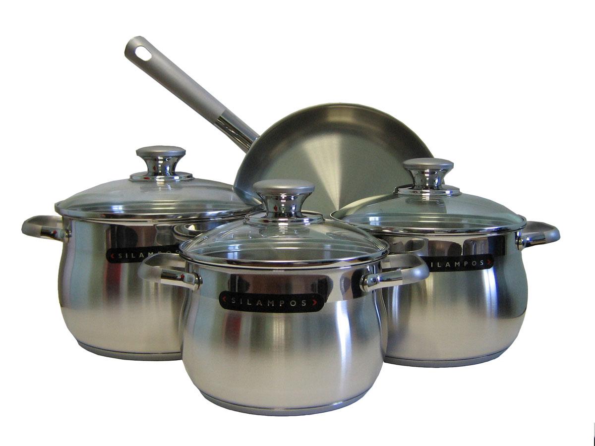 Набор посуды Silampos Роял Сатин, 7 предметов633123V60141633123V60141 Набор 4пр.РОЯЛ САТИН