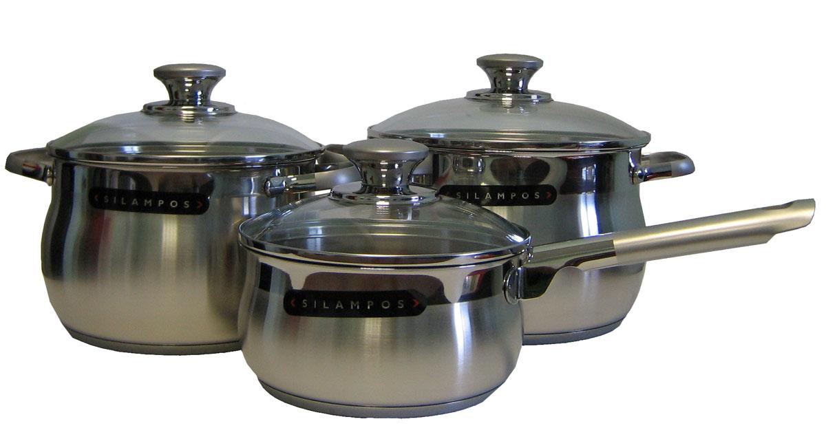 Набор посуды Silampos Роял Сатин, 6 предметов633123V60217633123V60217 Набор 3пр.РОЯЛ САТИН