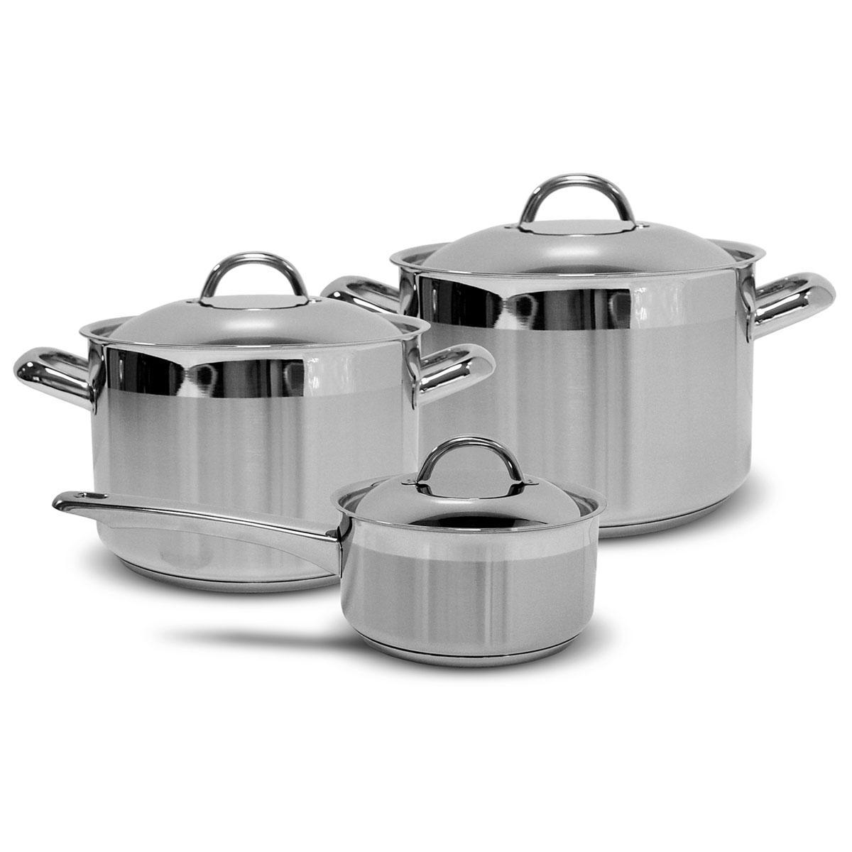 Набор посуды Silampos Европа, 6 предметов632123BM0217632123BM0217 Набор 3пр.ЕВРОПА Характеристики: Материал: сталь. Размер: 330*300*210мм. Артикул: 632123BM0217.