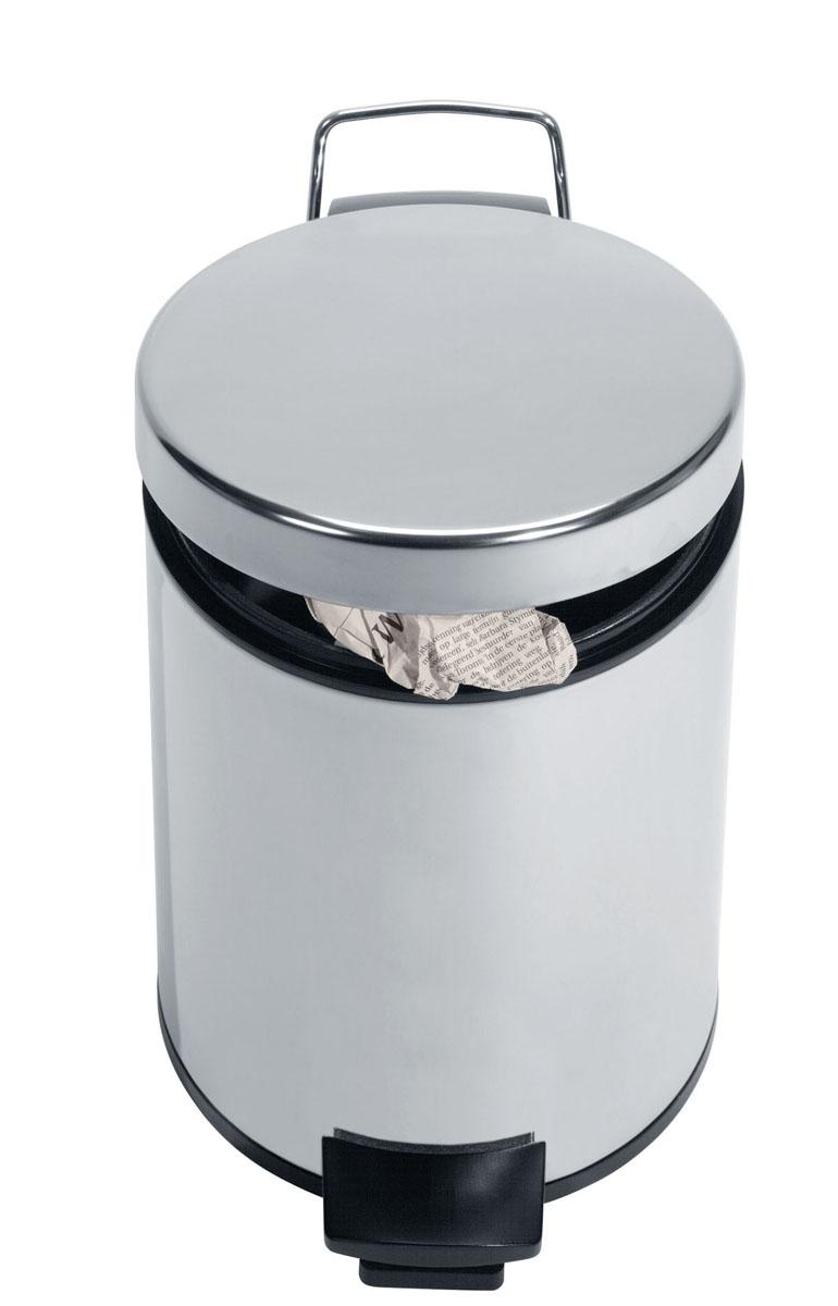 Бак мусорный Brabantia Классический, с педалью, с внутренним ведром, цвет: стальной, 5 л246920Идеальное решение для ванной комнаты и туалета! Предотвращает распространение запахов - прочная не пропускающая запахи металлическая крышка; Плавное и бесшумное открывание/закрывание крышки; Надежный педальный механизм, высококачественные коррозионно-стойкие материалы; Удобная очистка – прочное съемное металлическое внутреннее ведро; Бак удобно перемещать - прочная ручка для переноски; Отличная устойчивость даже на мокром и скользком полу – противоскользящее основание; Предохранение пола от повреждений - пластиковый защитный обод; Всегда опрятный вид - идеально подходящие по размеру мешки для мусора с завязками (размер B); 10-летняя гарантия Brabantia.