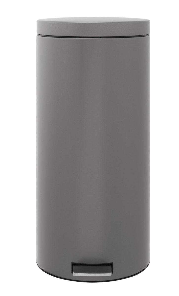 Бак мусорный Brabantia Классический, с педалью, цвет: платиновый, 30 л288326Педальный бак на 30 литров поистине универсален и идеально подходит для использования на кухне или в гостиной. Предотвращает распространение запахов - прочная не пропускающая запахи металлическая крышка; Плавное и бесшумное открывание/закрывание крышки; Надежный педальный механизм, высококачественные коррозионно-стойкие материалы; Удобный в использовании - при открывании вручную крышка фиксируется в открытом положении, закрывается нажатием педали; Удобная очистка – съемное внутреннее ведро из пластика; Бак удобно перемещать - прочная ручка для переноски; Предохранение пола от повреждений - пластиковый защитный обод; Всегда опрятный вид - идеально подходящие по размеру мешки для мусора с завязками (размер G); 10-летняя гарантия Brabantia. Характеристики: Материал: сталь. Размер: 355*310*685мм. Артикул: 288326.
