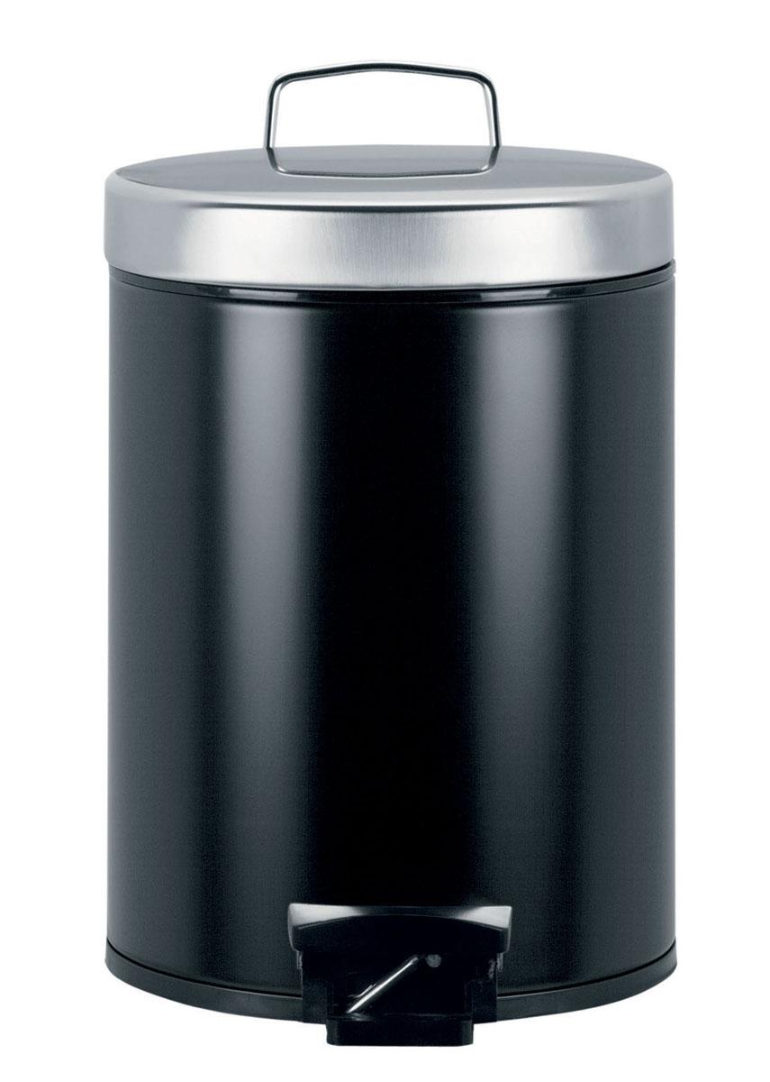 Бак мусорный Brabantia Классический, с педалью, цвет: черный, 5 л333361Идеальное решение для ванной комнаты и туалета! Предотвращает распространение запахов - прочная не пропускающая запахи металлическая крышка; Плавное и бесшумное открывание/закрывание крышки; Надежный педальный механизм, высококачественные коррозионно-стойкие материалы; Удобная очистка – прочное съемное внутреннее ведро из пластика; Бак удобно перемещать - прочная ручка для переноски; Отличная устойчивость даже на мокром и скользком полу – противоскользящее основание; Предохранение пола от повреждений - пластиковый защитный обод; Всегда опрятный вид - идеально подходящие по размеру мешки для мусора с завязками (размер B); 10-летняя гарантия Brabantia.