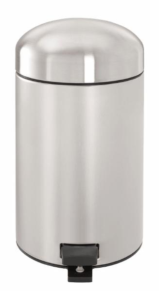 Ведро для мусора Brabantia Retro, 3 л. 361869361869Ведро для мусора Brabantia Retro изготовлено из высококачественного коррозионностойкого материала - стали с матовой полировкой. Ведро выполнено в стиле ретро с характерной куполообразной крышкой. Прочное съемное ведро из пластика обеспечивает удобный вынос мусора. Надежный педальный механизм позволяет удобно выбрасывать мусор. Прочная не пропускающая запахи металлическая крышка предотвращает распространение запахов. Противоскользящее основание обеспечивает отличную устойчивость даже на мокром и скользком полу. Пластиковый защитный обод предохраняет пол от повреждений. Для ведра идеально подходят мешки для мусора с завязками (размер А). Ведро для мусора Brabantia Retro - идеальное решение для ванной комнаты и туалета!