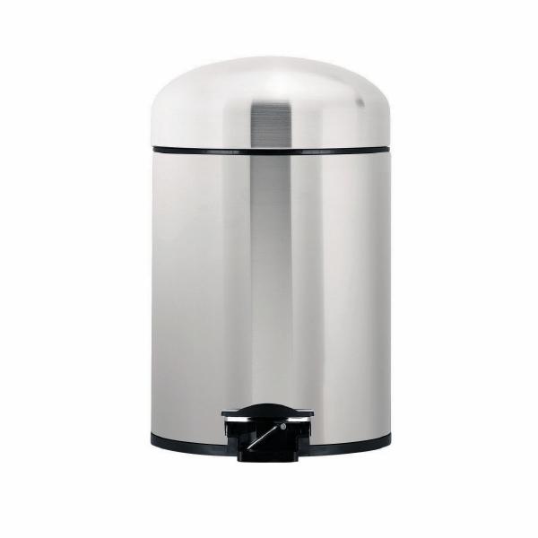 Ведро для мусора Brabantia, с педалью, цвет: стальной, 5 л361883Ведро для мусора Brabantia, выполненное из стали и пластика, обеспечит долгий срок службы и легкую чистку. Ведро поможет вам держать мусор в порядке и предотвратит распространение неприятного запаха. Ведро оснащено педалью, с помощью которой можно открывать крышку. Внутренняя часть ведра - это корзина c металлической ручкой для переноски, выполненная из пластика. Размер ведра: 23 см х 20 см х 33 см.