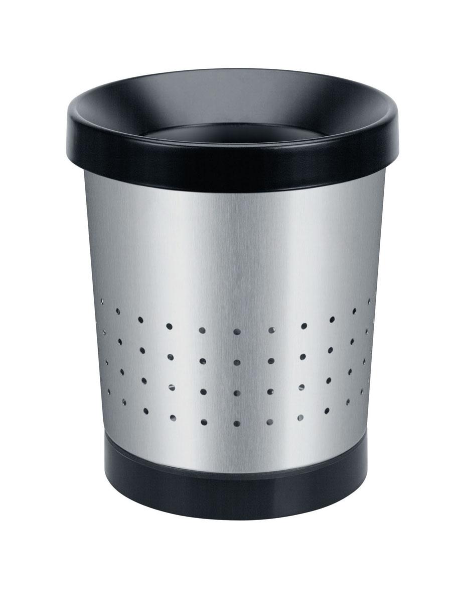 Корзина для бумаг Brabantia, 5 л. 364303364303Корзина для бумаг Brabantia, выполненная из антикоррозийной полированной стали, обеспечит долгий срок службы и легкую чистку. Корзина поможет вам держать мелкий мусор в порядке в гостиной, спальне, офисе, кабинете и комнате ребенка. Корзина имеет специальные вентиляционные отверстия. Пластиковое основание корзины предотвращает повреждение пола. Корзина оснащена съемным верхним ободом, который скрывает мусорный пакет и фиксирует его.
