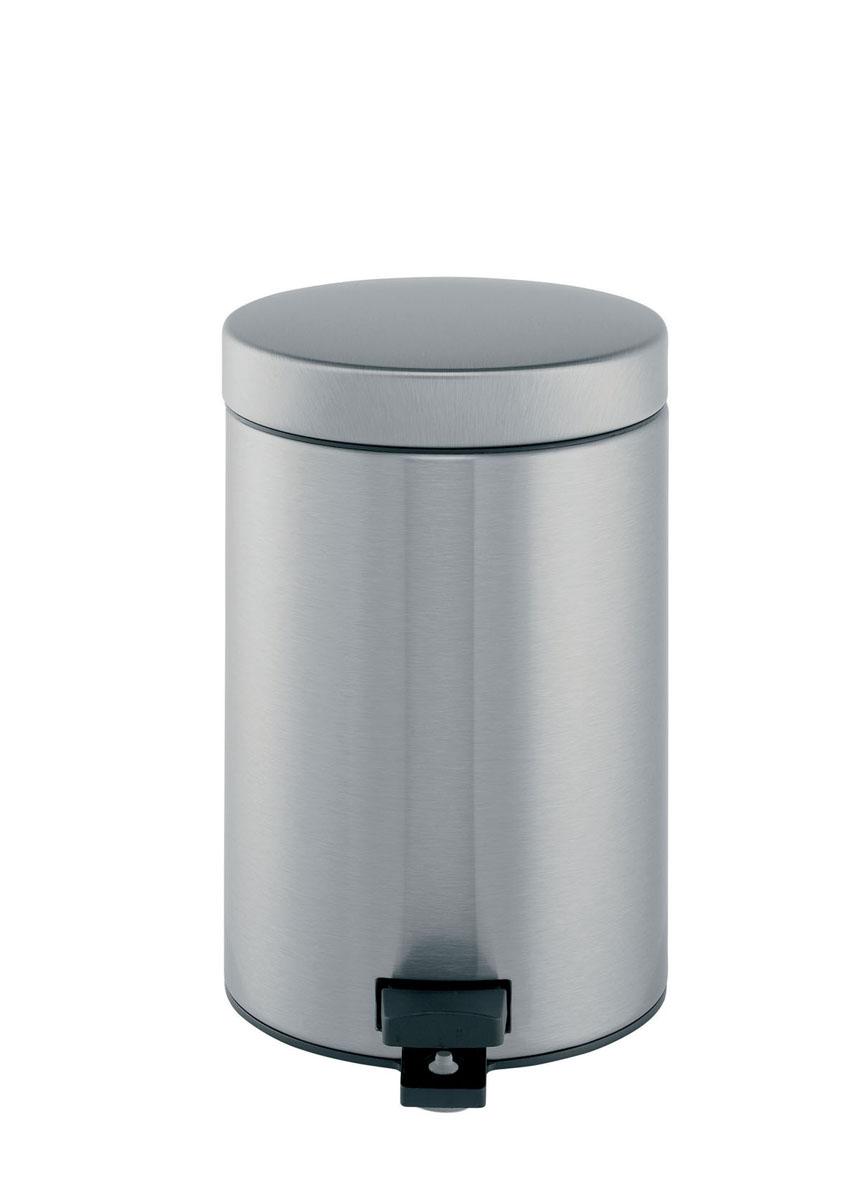 Бак мусорный Brabantia Классический, с педалью, цвет: матовая сталь, 3 л369520Идеальное решение для ванной комнаты и туалета! Предотвращает распространение запахов - прочная не пропускающая запахи металлическая крышка; Плавное и бесшумное открывание/закрывание крышки; Удобная очистка – прочное съемное внутреннее ведро из пластика; Надежный педальный механизм, высококачественные коррозионно-стойкие материалы; Бак удобно перемещать - прочная ручка для переноски; Отличная устойчивость даже на мокром и скользком полу – противоскользящее основание; Предохранение пола от повреждений - пластиковый защитный обод; Всегда опрятный вид - идеально подходящие по размеру мешки для мусора с завязками (размер B); 10-летняя гарантия Brabantia.