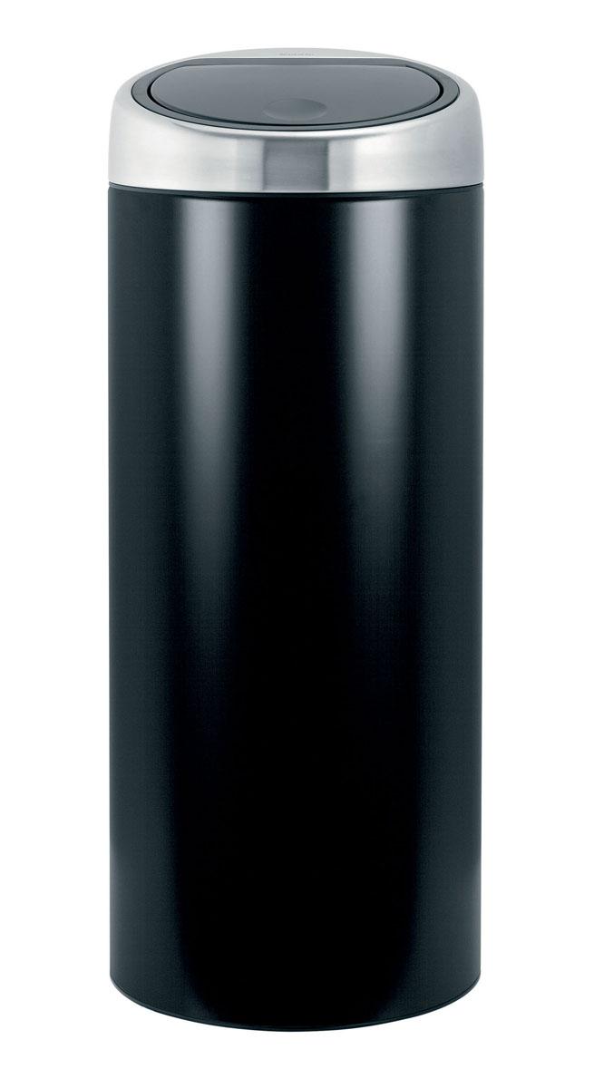 Мусорный бак Brabantia Touch Bin, цвет: черный, 30 л378744Мусорный бак Brabantia Touch Bin изготовлен из коррозионностойких материалов, что обеспечивает долговечность и удобство в очистке. Корпус выполнен из стали с матовым покрытием черного цвета, крышка изготовлена из матовой стали с защитой от отпечатков пальцев. Бак оснащен системой «soft touch», которая обеспечивает бесшумное открывание/закрывание крышки легким касанием. Съемное внутреннее ведро из пластика с вентиляционными отверстиями предотвращает образование вакуума при вынимании полного мусорного мешка. Бак удобно чистить и удобно заменять мешки для мусора, благодаря съемному блоку крышки. Бак легко перемещать с места на место с помощью прочной ручки для переноски. Пластиковый защитный обод предохраняет пол от повреждений. По размеру подходят мешки для мусора с завязками (размер C). Стильный Touch Bin - непременный атрибут каждой гостиной или кухни. Порадуйте себя и удивите гостей! Диаметр: 29,5 см. Высота: 72,5 см. ...