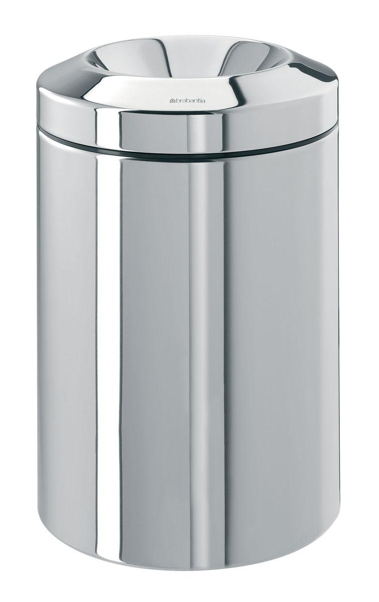 Корзина для бумаг Brabantia, с защитой от возгорания, цвет: стальной полированный, 15 л378881Несгораемая корзина для бумаг Brabantia выполнена из антикоррозийной полированной стали, станет идеальным безопасным решением для вашего дома или офиса. Корзина оснащена съемным гасителем огня из нержавеющей стали, который изолирует доступ кислорода в случае возгорания отходов, и огонь гаснет. Содержимое мусорного ведра практически полностью скрыто от глаз, а съемная внутренняя металлическая корзина легко чистится и устойчива к коррозии. Пластиковый защитный обод предотвращает повреждение пола.