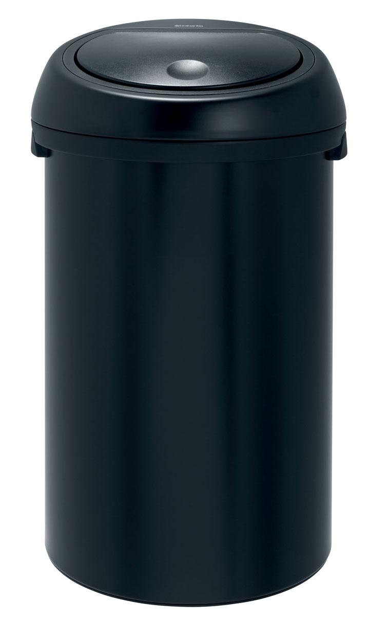 Бак мусорный Brabantia Touch Bin, цвет: матовый черный, 50 л391729Подыскиваете удобный бак для мусора большой вместимости? Элегантный и функциональный Touch Bin на 50 литров станет вашим незаменим помощником в больших делах! Бесшумное открывание/закрывание крышки легким касанием - система soft touch; Плавный ход - демпфированный механизм крышки; Большая вместимость - до 50 литров отходов; Широкое загрузочное отверстие - позволяет аккуратно высыпать мусор из совка; Удобная смена мешков для мусора - съемный блок крышки из нержавеющей стали; Легкое перемещение с места на место - прочная ручка для переноски; Предохранение пола от повреждений - пластиковый защитный обод; Бак изготовлен из коррозионно-стойких материалов – долговечность и удобство в очистке; Всегда опрятный вид - идеально подходящие по размеру мешки для мусора с завязками (размер H); 10-летняя гарантия Brabantia. Характеристики: Материал: сталь. Размер: 415*415*730мм. Артикул: 391729.