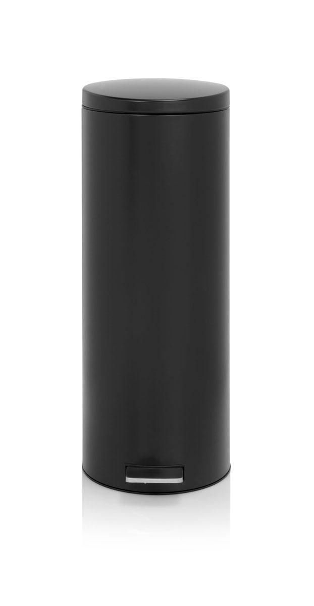 Бак мусорный Brabantia Slimline, высокий, с педалью, цвет: матовый черный, 20 л478567Элегантный и высокий мусорный бак Brabantia с уникальным механизмом MotionControl идеально подходит для использования на кухне или в гостиной. Механизм MotionControl обеспечивает мягкое действие педали и бесшумное открывание крышки; Надежный педальный механизм, высококачественные коррозионно-стойкие материалы; Удобный в использовании - при открывании вручную крышка фиксируется в открытом положении, закрывается нажатием педали; Удобная очистка – съемное внутреннее пластиковое ведро; Бак удобно перемещать - прочная ручка для переноски; Отличная устойчивость даже на мокром и скользком полу – противоскользящее основание; Предохранение пола от повреждений - пластиковый защитный обод; Всегда опрятный вид - идеально подходящие по размеру мешки для мусора с завязками (размер F); 10-летняя гарантия Brabantia.