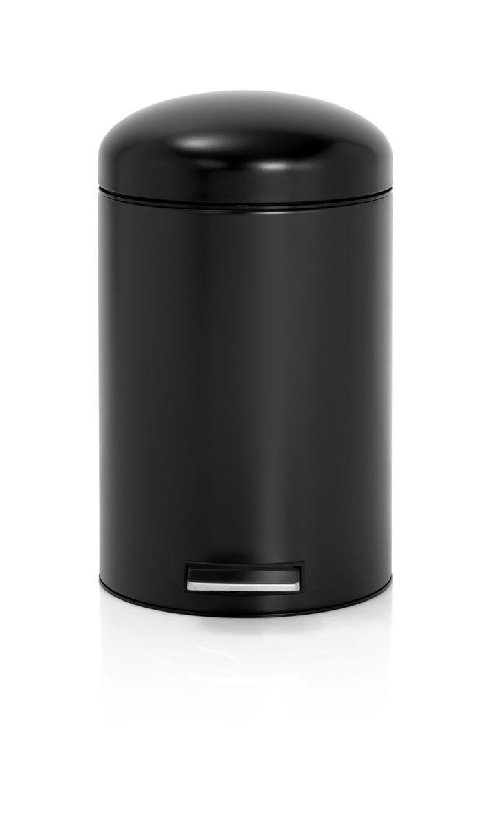 Бак мусорный Brabantia Retro, цвет: матовый черный, 12 л479021Стильный ретро бак открывается бесшумно легким нажатием на педаль. Незаменимый помощник в вашей ванной комнате. Механизм MotionControl обеспечивает мягкое действие педали и бесшумное закрывание крышки; Мягкое действие педали и бесшумное закрывание крышки; Удобный в использовании - при открывании вручную крышка фиксируется в открытом положении, закрывается нажатием педали; Надежный педальный механизм, высококачественные коррозионно-стойкие материалы; Удобная очистка - съемное внутреннее ведро из пластика; Бак удобно перемещать - прочная ручка для переноски; Отличная устойчивость даже на мокром и скользком полу – противоскользящее основание; Предохранение пола от повреждений - пластиковый защитный обод; Всегда опрятный вид – идеально подходящие по размеру мешки для мусора с завязками (размер C); 10-летняя гарантия Brabantia.