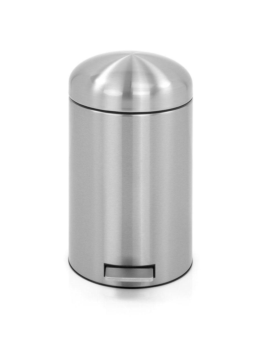 Бак мусорный Brabantia Retro, с защитой от отпечатков пальцев, цвет: матовая сталь, 12 л479120Стильный ретро бак открывается бесшумно легким нажатием на педаль. Незаменимый помощник в вашей ванной комнате. Механизм MotionControl обеспечивает мягкое действие педали и бесшумное закрывание крышки; Мягкое действие педали и бесшумное закрывание крышки; Удобный в использовании - при открывании вручную крышка фиксируется в открытом положении, закрывается нажатием педали; Надежный педальный механизм, высококачественные коррозионно-стойкие материалы; Удобная очистка - съемное внутреннее ведро из пластика; Бак удобно перемещать - прочная ручка для переноски; Отличная устойчивость даже на мокром и скользком полу – противоскользящее основание; Предохранение пола от повреждений - пластиковый защитный обод; Всегда опрятный вид – идеально подходящие по размеру мешки для мусора с завязками (размер C); 10-летняя гарантия Brabantia. Характеристики: Материал: сталь. Размер: 325*290*486мм. Артикул: 479120.