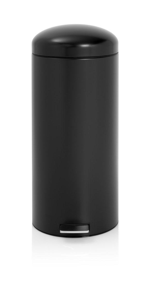 Бак мусорный Brabantia Retro, с защитой от отпечатков пальцев, цвет: матовый черный, 30 л479267Популярный бак Brabantia в стиле ретро с характерной куполообразной крышкой - идеальное решение для вашей кухни или гостинной. Механизм MotionControl обеспечивает мягкое действие педали и бесшумное закрывание крышки; Мягкое действие педали и бесшумное закрывание крышки; Удобный в использовании - при открывании вручную крышка фиксируется в открытом положении, закрывается нажатием педали; Надежный педальный механизм, высококачественные коррозионно-стойкие материалы; Удобная очистка - съемное внутреннее ведро из пластика; Удобная смена мусорных мешков - во внутреннем ведре имеются специальные вентиляционные отверстия, предотвращающие; Бак удобно перемещать - прочная ручка для переноски; Отличная устойчивость даже на мокром и скользком полу – противоскользящее основание; Предохранение пола от повреждений - пластиковый защитный обод; Всегда опрятный вид – идеально подходящие по размеру мешки для мусора с завязками (размер G); 10-летняя...