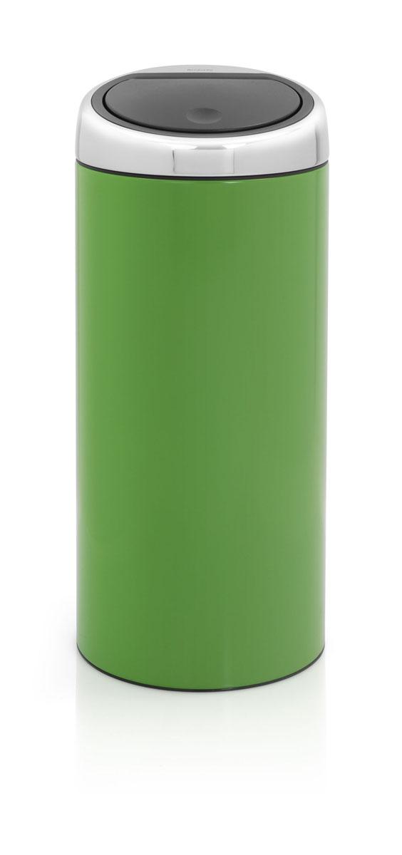 Мусорный бак Brabantia Touch Bin, цвет: зеленый, 30 л480980Стильный Touch Bin на 30 литров – непременный атрибут каждой гостиной или кухни. Порадуйте себя и удивите гостей! Бесшумное открывание/закрывание крышки легким касанием – система soft touch; Удобная смена мешков для мусора – съемный блок крышки из нержавеющей стали; Удобная очистка – съемное внутреннее ведро из пластика с вентиляционными отверстиями, предотвращающими образование вакуума при вынимании полного мусорного мешка; Легкое перемещение с места на место – прочная ручка для переноски; Предохранение пола от повреждений – пластиковый защитный обод; Бак изготовлен из коррозионно-стойких материалов – долговечность и удобство в очистке; Всегда опрятный вид – идеально подходящие по размеру мешки для мусора с завязками (размер C); 10-летняя гарантия Brabantia.