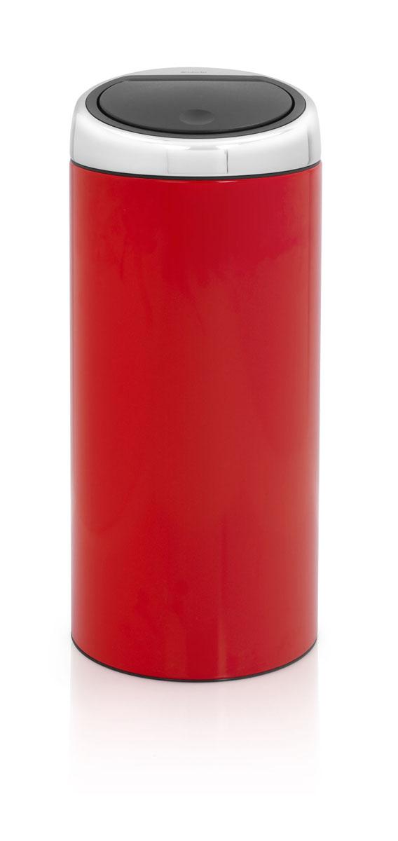 Мусорный бак Brabantia Touch Bin, цвет: красный, 30 л481086Стильный Touch Bin на 30 литров – непременный атрибут каждой гостиной или кухни. Порадуйте себя и удивите гостей! Бесшумное открывание/закрывание крышки легким касанием – система soft touch; Удобная смена мешков для мусора – съемный блок крышки из нержавеющей стали; Удобная очистка – съемное внутреннее ведро из пластика с вентиляционными отверстиями, предотвращающими образование вакуума при вынимании полного мусорного мешка; Легкое перемещение с места на место – прочная ручка для переноски; Предохранение пола от повреждений – пластиковый защитный обод; Бак изготовлен из коррозионно-стойких материалов – долговечность и удобство в очистке; Всегда опрятный вид – идеально подходящие по размеру мешки для мусора с завязками (размер C); 10-летняя гарантия Brabantia.