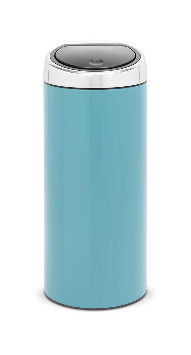 Мусорный бак Brabantia Touch Bin, цвет: бирюзовый, 30 л481925Стильный Touch Bin на 30 литров – непременный атрибут каждой гостиной или кухни. Порадуйте себя и удивите гостей! Бесшумное открывание/закрывание крышки легким касанием – система soft touch; Удобная смена мешков для мусора – съемный блок крышки из нержавеющей стали; Удобная очистка – съемное внутреннее ведро из пластика с вентиляционными отверстиями, предотвращающими образование вакуума при вынимании полного мусорного мешка; Легкое перемещение с места на место – прочная ручка для переноски; Предохранение пола от повреждений – пластиковый защитный обод; Бак изготовлен из коррозионно-стойких материалов – долговечность и удобство в очистке; Всегда опрятный вид – идеально подходящие по размеру мешки для мусора с завязками (размер C); 10-летняя гарантия Brabantia.