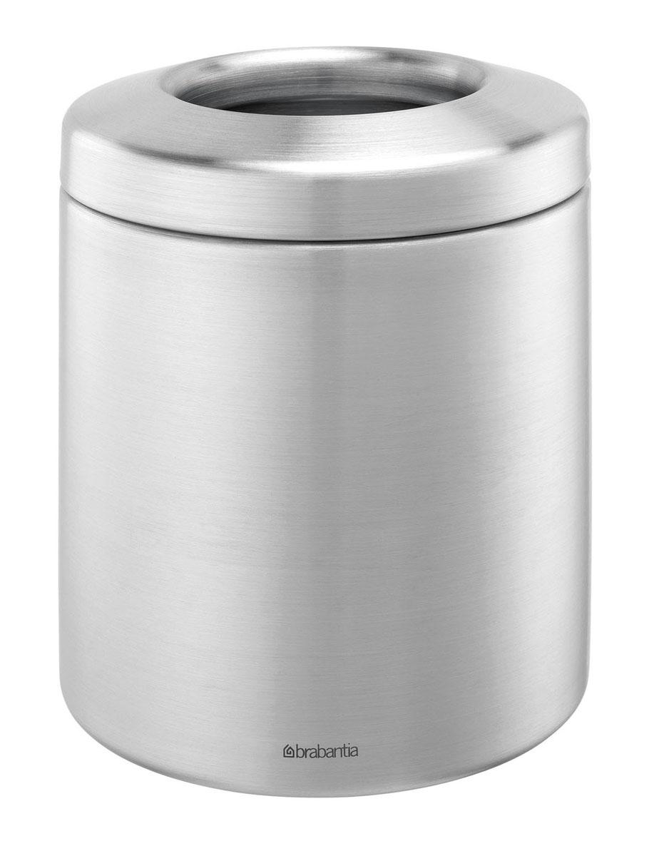 Контейнер для мусора Brabantia, настольный. 297960297960Настольный контейнер для мусора Brabantia изготовлен из нержавеющей стали с матовой полировкой. Бороться с мелким мусором станет легко. Контейнер для мусора Brabantia добавит аккуратность в ваше домашнее хозяйство.
