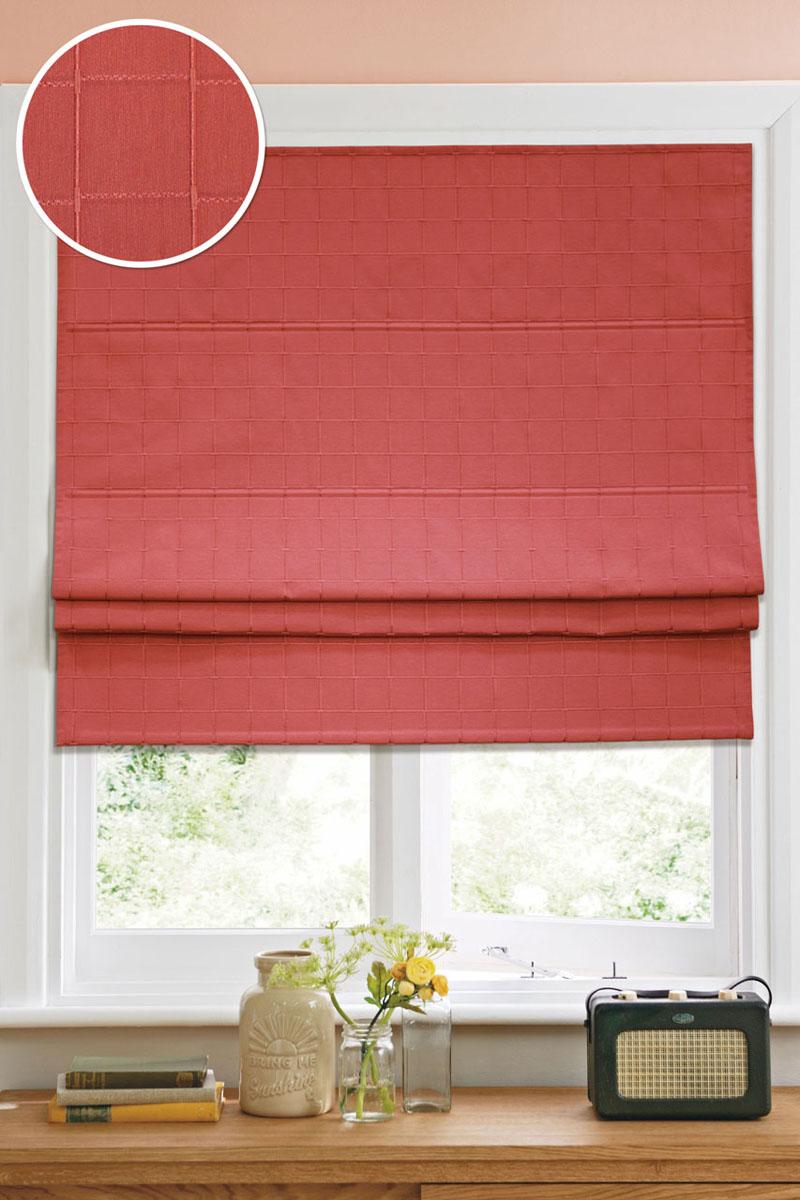 Римская штора Эскар Ammi 100x160 см, цвет: красный12001100160Римская штора Garden, выполненная из высокопрочной ткани и украшенная оригинальным узором, является отличным заменителем обычных портьер. Ее можно установить там, где невозможно повесить обычные шторы. Конструкция римской шторы позволяет ее разместить даже на самых маленьких оконных проемах. Данный вид декора окна будет выглядеть эстетично долгое время. Римская штора представляет собой полотно, по ширине которого параллельно друг другу вшиты пластиковые или деревянные рейки. На концах этих планок закреплены кольца, сквозь которые пропущен шнур. С его помощью осуществляется управление шторой. При движении шнура вниз происходит складывание полотна и его поднятие в верхнюю часть оконного проема. При закрывании шнур поднимается, а складки, образованные тканью, расправляются и опускаются на окно. Шторы крепятся на стену или на потолок путем сверления. Такая штора станет прекрасным элементом декора окна и гармонично впишется в интерьер любого помещения. Комплект...