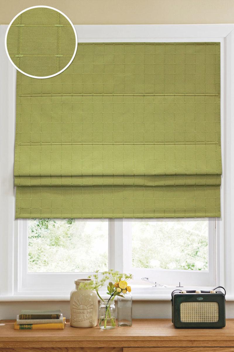 Римская штора Эскар Ammi, тканевая, цвет: зеленый, 120 х 160 см12004120160Римская штора Эскар Ammi, выполненная из высокопрочной ткани, является отличным заменителем обычных портьер. Ее можно установить там, где невозможно повесить обычные шторы. Конструкция шторы позволяет разместить ее даже на самых маленьких оконных проемах, а специальная пропитка ткани сделает данный вид декора окна эстетичным долгое время. Римская штора представляет собой полотно, по ширине которого параллельно друг другу вшиты пластиковые или деревянные рейки. На концах этих планок закреплены кольца, сквозь которые пропущен шнур. С его помощью осуществляется управление шторой. При движении шнура вниз происходит складывание полотна и его поднятие в верхнюю часть оконного проема. При закрывании шнур поднимается, а складки, образованные тканью, расправляются и опускаются на окно. Такая штора станет прекрасным элементом декора окна и гармонично впишется в интерьер любого помещения. Комплект для монтажа прилагается. Стирка при 30°С. У всех...
