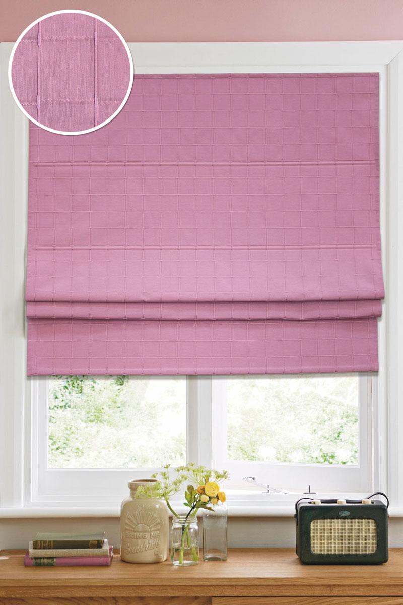 Римская штора Эскар Ammi, цвет: розовый, ширина 100 см, высота 160 см12013100160Римская штора Эскар Ammi, выполненная из высокопрочной ткани, является отличным заменителем обычных портьер. Ее можно установить там, где невозможно повесить обычные шторы. Конструкция шторы позволяет ее разместить даже на самых маленьких оконных проемах, а специальная пропитка ткани сделает данный вид декора окна эстетичным долгое время. Римская штора представляет собой полотно, по ширине которого параллельно друг другу вшиты пластиковые или деревянные рейки. На концах этих планок закреплены кольца, сквозь которые пропущен шнур. С его помощью осуществляется управление шторой. При движении шнура вниз происходит складывание полотна и его поднятие в верхнюю часть оконного проема. При закрывании шнур поднимается, а складки, образованные тканью, расправляются и опускаются на окно. Такая штора станет прекрасным элементом декора окна и гармонично впишется в интерьер любого помещения. Комплект для монтажа прилагается.
