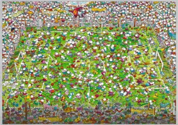 Сумашедший Кубок мира. Пазл, 4000 элементов29072Пазл Сумашедший Кубок мира без сомнения придется вам по душе, и вы получите массу удовольствия от процесса собирания картины. Пазлы - прекрасное антистрессовое средство для взрослых и замечательная развивающая игра для детей. Собирание пазла развивает у ребенка мелкую моторику рук, тренирует наблюдательность, логическое мышление, знакомит с окружающим миром, с цветом и разнообразными формами, учит усидчивости и терпению, аккуратности и вниманию. Собирание пазла - прекрасное времяпрепровождение для всей семьи.