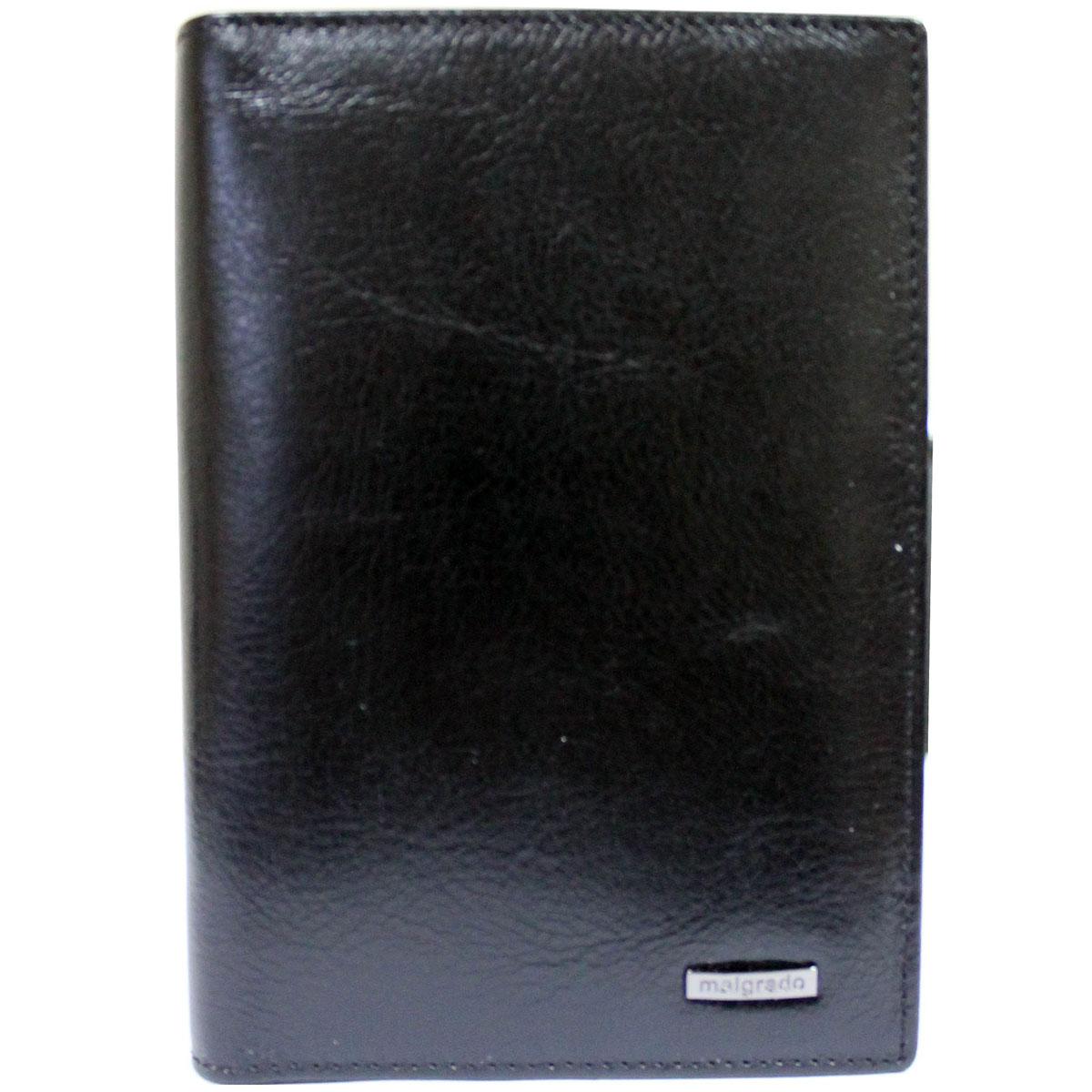 Обложка для паспорта Malgrado, цвет: черный. 54019-1-64D Black54019-1-64D BlackОбложка для паспорта Malgrado выполнена из высококачественной натуральной кожи черного цвета с логотипом фирмы. Внутри пять кармашков для визиток и шесть пластиковых файлов для авто-документов. Эта элегантная обложка непременно подойдет к вашему образу и порадует простотой, стилем и функциональностью. Обложка для паспорта упакована в коробку из плотного картона с логотипом фирмы.